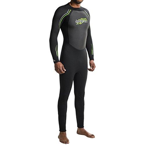 Hyperflex Mens Access Series - Hyperflex Mens Access Series 3/2mm Long Sleeve Full Suit (Black / Green, Small)