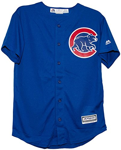 Majestic Athletic Chicago Cubs Alternate Blue Cool Base Youth Jersey (youth medium 10-12) Chicago Cubs Replica Alternate Jersey