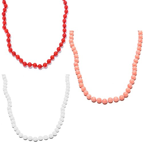 Michael Valitutti Palladium Silver Round Bamboo Coral Bead Toggle (Bamboo Coral Beads)