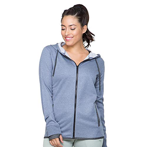Colosseum Womens Theia Full Zip Hoodie Vintage Indigo - M ()