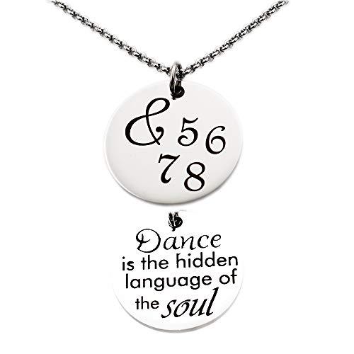 (N.egret Dance Girl Pendant Necklace Ballet Dancer Girl Encouragement Gift for Back To School Daughter Birthday)