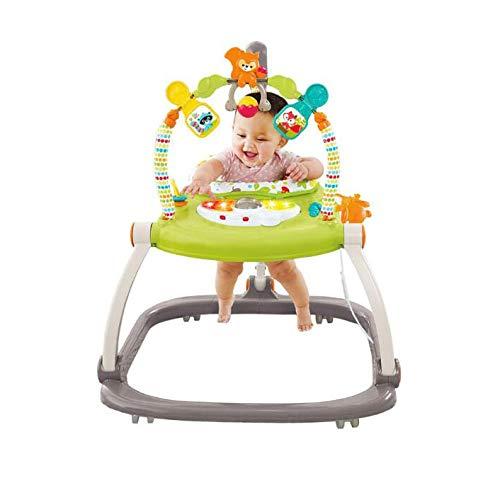 赤ん坊のトロリー反ロールオーバー多機能ベビーカー音楽付きベビーウォーカーバウンスフィットネスウォーカー6 / 7-18ヶ月   B07TYQ2K5W