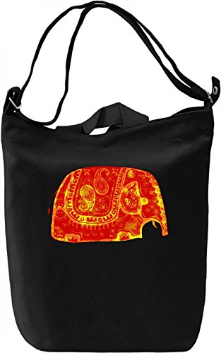 Indian Elephant Borsa Giornaliera Canvas Canvas Day Bag| 100% Premium Cotton Canvas| DTG Printing|