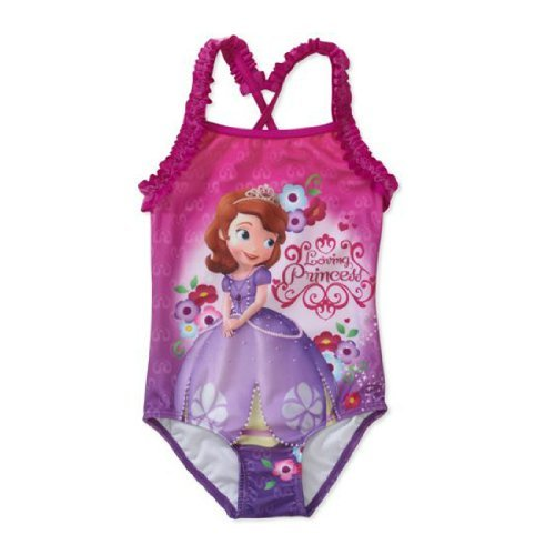 Disney Sofia the First Toddler Girls' 1-piece Swimsuit - Swimsuit The First