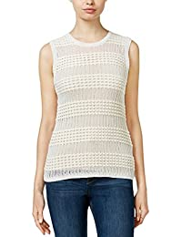 Womens Knit Textured Tank Top