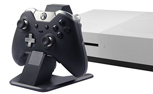 AmazonBasics Aluminum Charging Stand for Xbox One, Xbox One S, and Xbox One X Controllers, Black