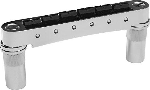 Graph Tech ResoMax NV2 Auto Lock Bridge with String Saver Saddles 6MM Posts Chrome