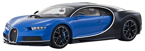 Bugatti Chiron Blue and Dark Blue Metallic 1/18 Diecast Model Car by Kyosho C09548BBK
