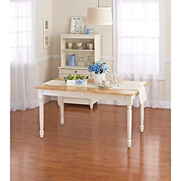 Better Homes And Gardens Autumn Lane 6 Piece Dining Set, White And Natural  By
