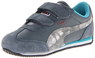PUMA Whirlwind Dipdye Velcro Sneaker (Infant/Toddler/Little Kid),Turbulence/Pomegranate/Bluebird,7 M US Toddler