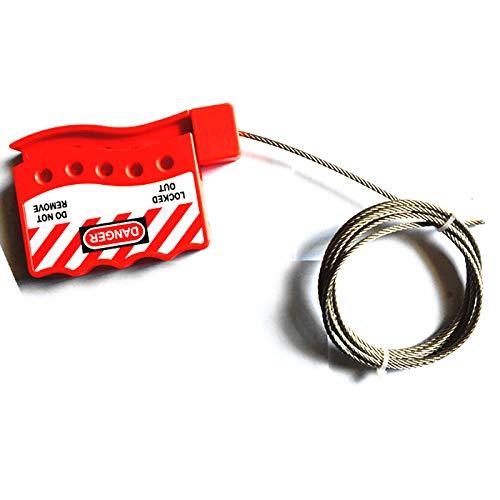 Adjustable Steel Cable Lock Universal Valve Cable Lock Adjustable Steel Cable Lock Safety Padlock (Outdoor)