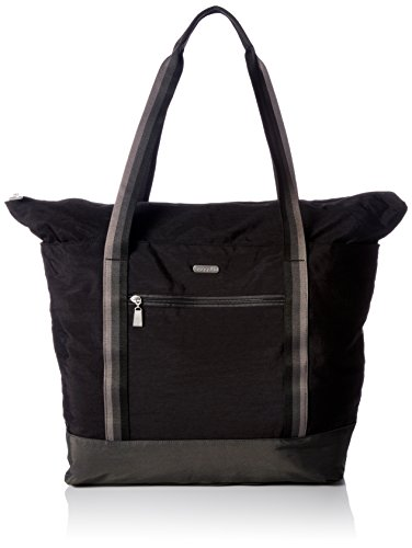 Baggallini Women's Fine Carryall, Black with Sand Lining