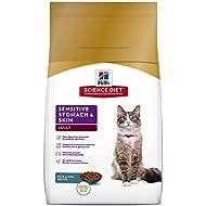 Hill's Science Diet Adult Sensitive Stomach & Skin Cat Food, Rice & Egg Recipe Dry Cat Food, 15.5 lb Bag