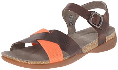 KEEN Women's Dauntless Ankle Sandal, Cascade Brown, 8.5 M US (Wholesale Sandals Fashion Women)