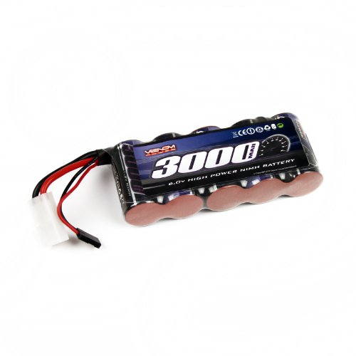 Venom 6v 3000mAh 5-Cell Large Scale Receiver NiMH (Big 5 Scale)