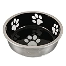 Loving Pets Robusto Bowl for Small Dogs and Cats, X-Small, Midnight