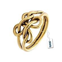 SENFAI Minimalism Jewelry Bijoux Handmade Knot Double Wire Ring Turelove Knot Retro Finger Rings for Women Girls