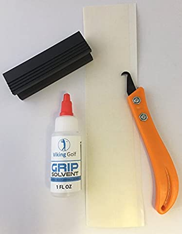 Golf Putter Grip Regripping Kit Includes- Removal Tool Shaft Clamp Grip Tape Activator 2 Pieces of Grip - Golf Kit