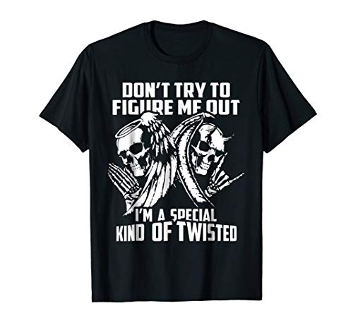 Dont Try To Figure Me Out - Cool Angel and Devil T shirt