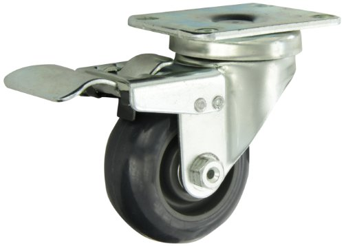 Albion-02-Series-3-Diameter-Polyurethane-on-Polypropylene-Wheel-Light-Duty-Institutional-Swivel-Caster-with-Total-Lock-Annular-Ball-Bearing-3-58-Length-X-2-12-Width-Plate-300lbs-Capacity-Pack-of-4