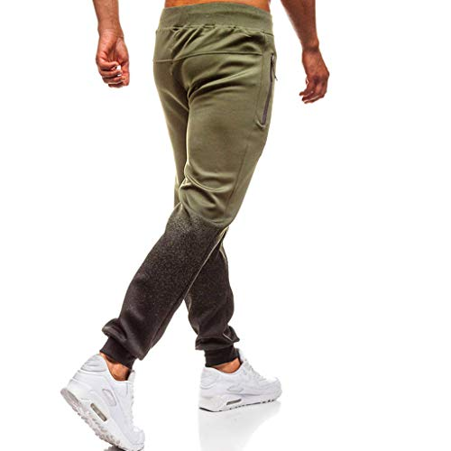 haoricu Men's Pants Men Outdoor Running Motion Pants Black Splicing Drawstring Elastic Trousers (Fringed Drawstring)