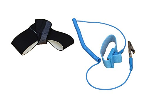 ESD Anti Static Foot Heel Strap And Wrist Bracelet Strap Combo, 1M Ohm Resistor, Adjustable, Reusable, One Size Fits All (Static Protection)
