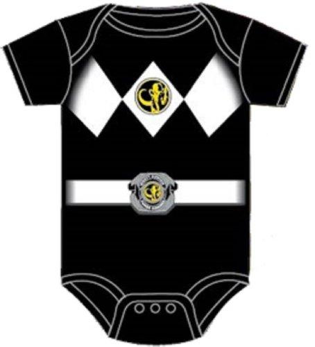 Power Rangers Black Baby Ranger Costume Romper Onesie (6-12 Months) -