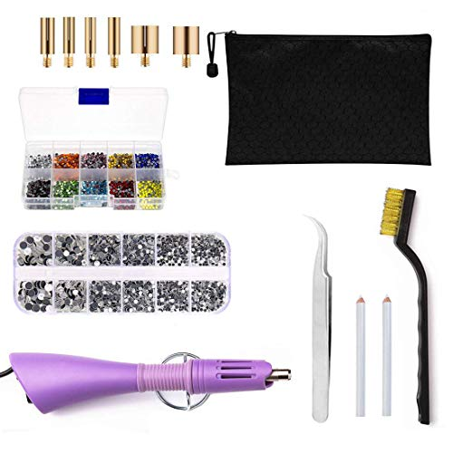 Great Deal! DIY Rhinestone Tools - houmi Hot fix Rhinestone Setter Applicator Wand Tool Kit Set with...