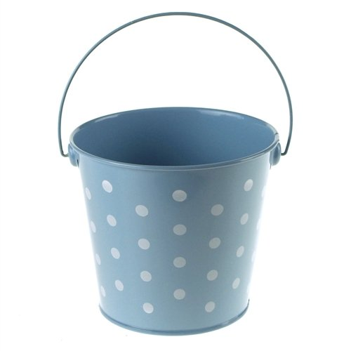 Homeford FCF041962LBL Polka Dot Metal Pail Buckets Party Favor, 5