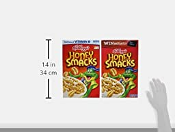Honey Smacks Cereal, 15.3-Ounce Boxes (Pack of 4)
