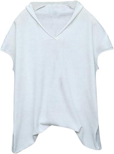 Damas de Color sólido Suelta con Cuello en V Manga Corta Camiseta Informal ZOELOVE Camisa Casual de Manga Corta con Cuello en v sólido Blusa Suelta Blusa Corta Tops Camisa: Amazon.es: Ropa
