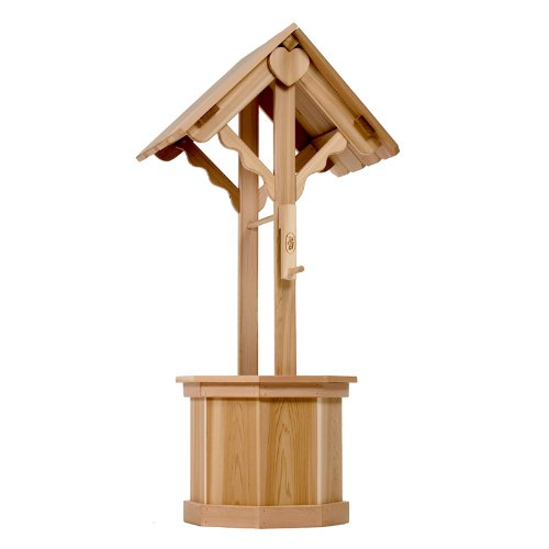 All Things Cedar 60 Wishing Well Planter with Gift Lid