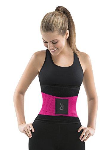 Sbelt Thermal Waist Trainer Slimming Belt – Women's Slimming Body Shaper Trimmer for an Hourglass Shape (Pink, - Plastic To Tighten Glasses How