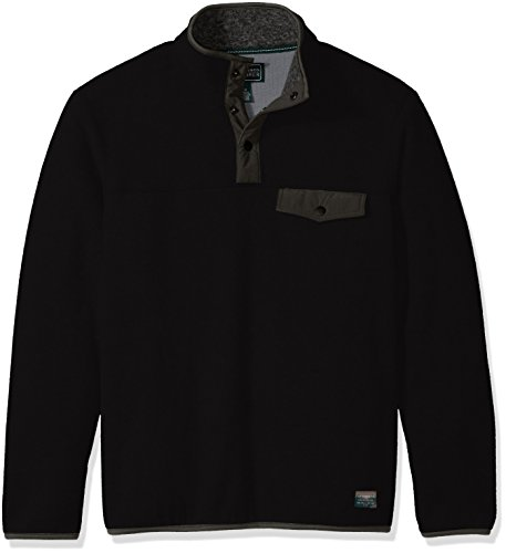 G.H. Bass & Co. Men's Explorer Full Zip Fleece, Black, for sale  Delivered anywhere in Canada