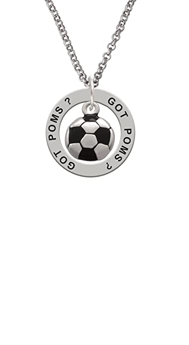 Balón de fútbol - GOT pompones? AFIRMACIÓN Anillo Collar: Amazon ...