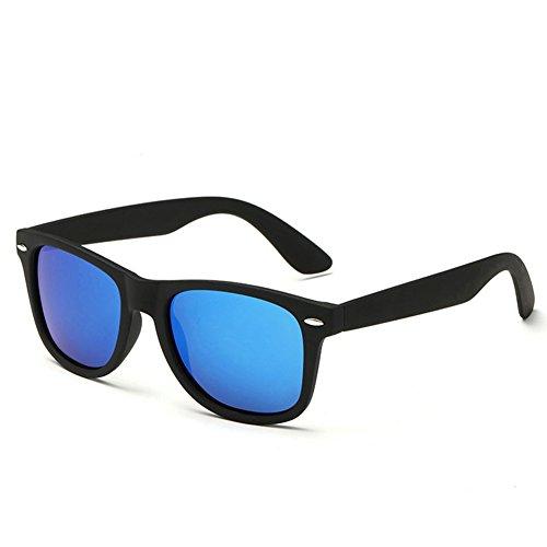 Pro Acme Wayfarer Polarized Sunglasses (Matte Black Frame/Ice Blue Mirrored - Blue Lens