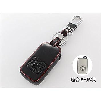 ブラック 革スマートキーケース 4ボタン 専用設計でフィット感抜群! 【IKT】 ヴォクシー トヨタ系 (TL-006BK) ノア/ / 60/70系など エスティマ
