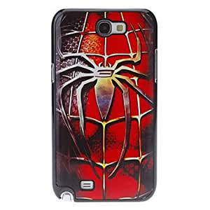 Spider Pattern Plastic Hard Case Cover for Samsung Galaxy Note2 N7100