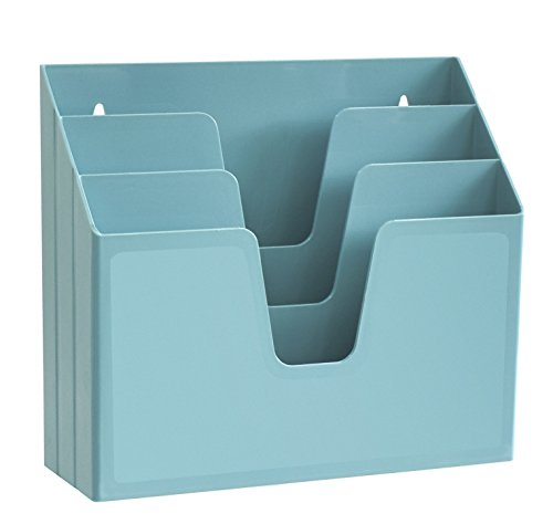 (Acrimet Horizontal Triple File Folder Organizer (Solid Green Color))