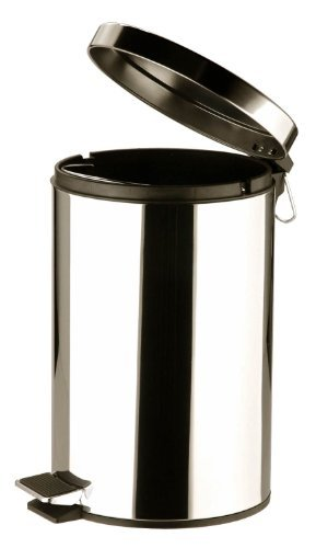 Stainless Steel Kitchen Bathroom Pedal Bin 12 Litre by Payless Trading? by (12l Pedal Bin)