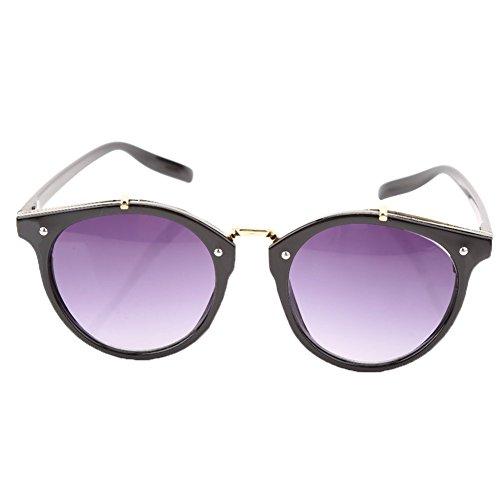 amp; Redondas Black Frame Grey Alomejor de de Sol Gafas Gato Hombre Gafas UV400 Lens Lens con y amp; de Ojo de Grey Frame Marco Black Sol para Mujer wOqHRwg
