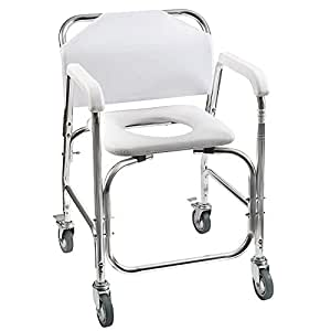 Amazon Com Dmi Rolling Shower And Commode Transport Chair