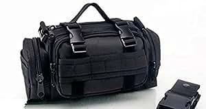 BXT Multi-purpose Cycling Canvas Frame Pannier Front Handlebar Bike Bag with Shoulder Strap Black