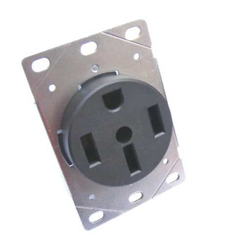 Conntek 80311 RV/ Range/ Generator Straight Blade Flash Mount Receptacle NEMA 14-50R