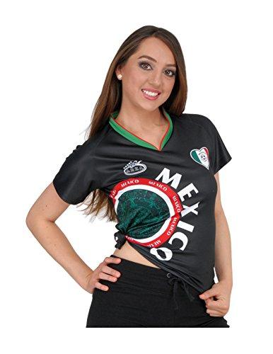 Arza Sports Mexico Womens Soccer Jersey Exclusive Desin (Large, Black) (Black Womens Soccer Jersey)