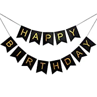 Lovely Happy Birthday Wall Banner,Versatile, Beautiful, Swallowtail Bunting Flag Garland Surprise Ideas, Birthday Party Decorations and Supplies