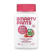 SmartyPants Probiotic & Prebiotic Immunity Gummies for Kids: 4 billion CFUs & Wellmune® Prebiotic, VEGAN, NON-GMO, GLUTEN-FREE, PATENT-PENDING; STRAWBERRY CREME; 30 Day Supply