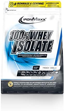IronMaxx 100%-Whey Isolate, 750 g Beutel, French Vanilla