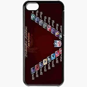 Personalized iPhone 5C Cell phone Case/Cover Skin 573 washington redskins Black