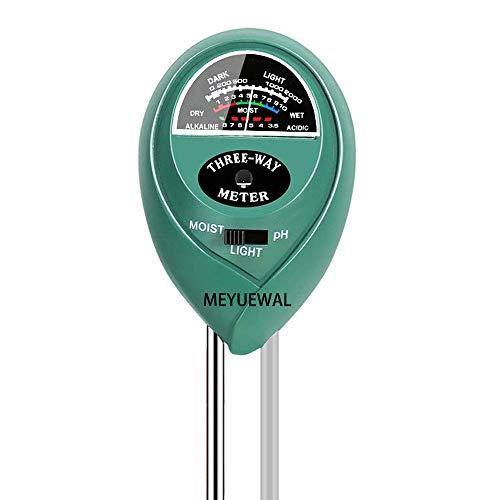 MEYUEWAL 3-in-1 Soil Test Kit for Moisture, Light & pH, Soil PH Tester Pro, for Garden,Farm,Plants, Lawn, Indoor/Outdoors Plant Care Soil Tester (No Battery Needed) by MEYUEWAL